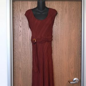Rust Anthropology Maxi Dress size 12